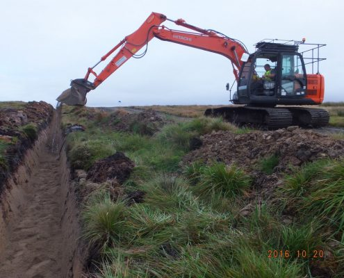 Sanding and landscaping civil engineering work completed by Conservefor specialist trenching and cabling contractor