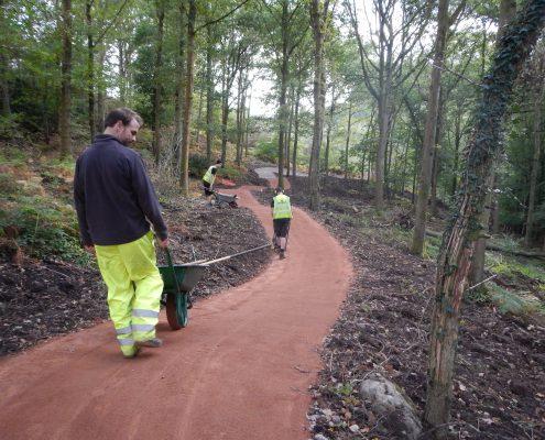 Adaptive bike trail construction