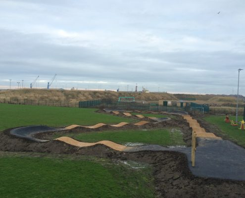 School Pump Track Construction
