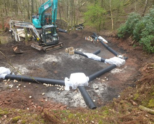artificial badger sett construction