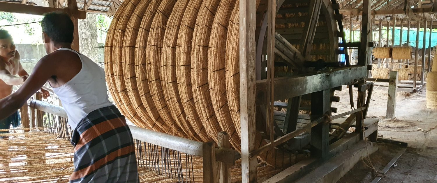Coir Log Manufacturing Process in India