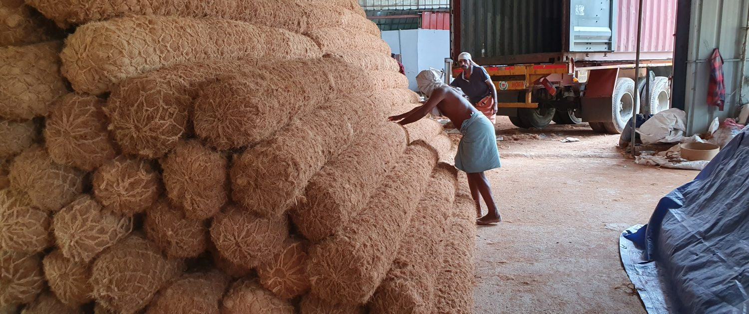 Coir log ready for shipping from India